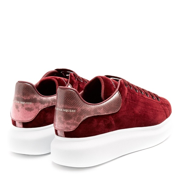 Alexander McQueen & Burgundy Oversized Sneakers Outlet Huge Surprise Collections TWmUfniq7
